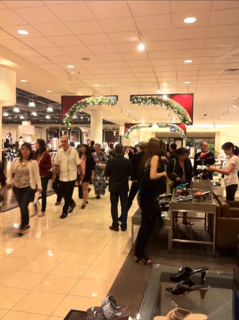 Nordstrom Hawaii Holiday Shopping Event Aisles