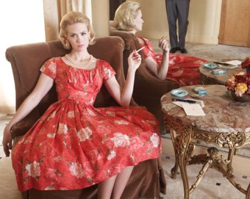 mad-men-betty-draper-january-jones-red-a-line-dress