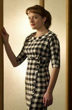 Mad-Men-Peggy-Olson-Checkered-Dress